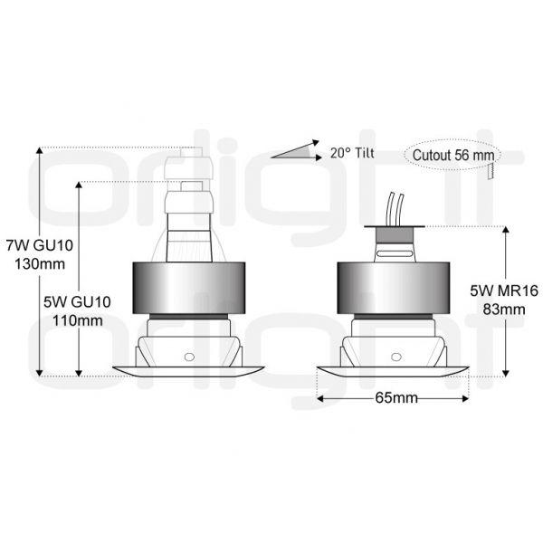 buy online eab25 817e9 Orlight STEAMSPOT IP65 Downlight - Ormrod