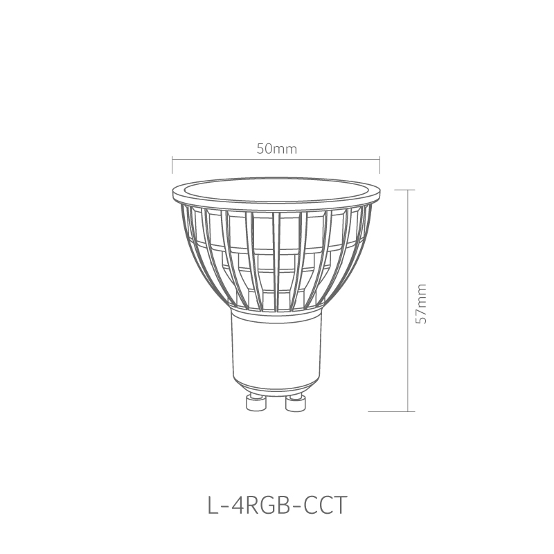 gap 6w rgbw gu10 smart lamp